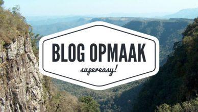 opmaak blog
